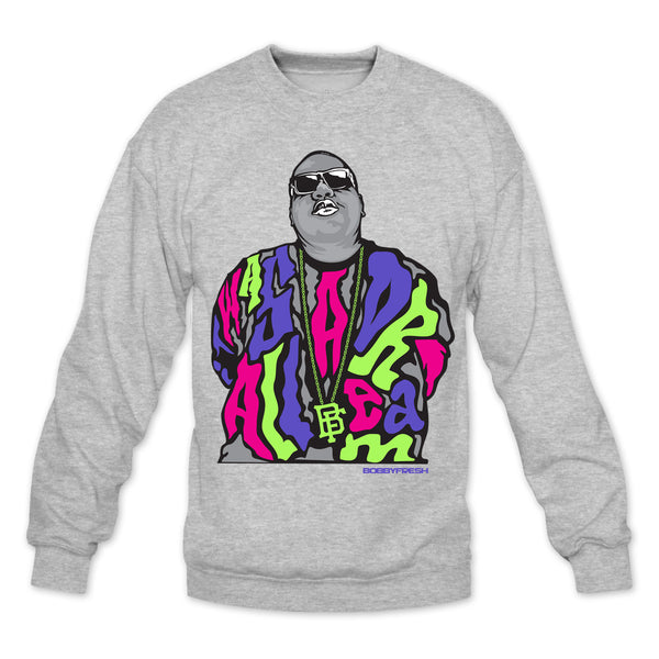 Dream BIG Heather Grey/Bel Air Crewneck