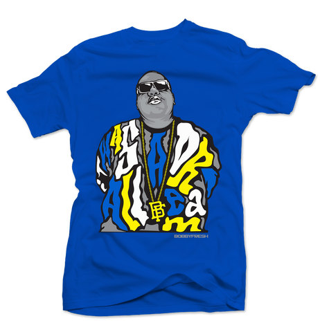Dream BIG Royal Blue/Yellow Tee