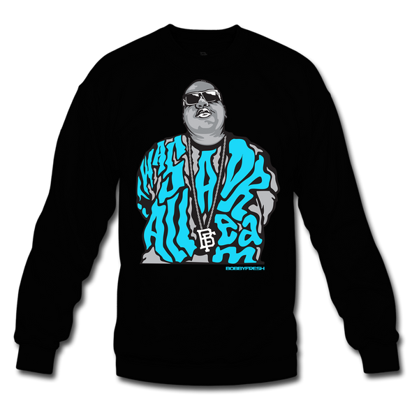 Dream BIG Black/Blue Crewneck