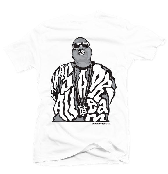 Dream BIG White/Grey Tee - Bobby Fresh