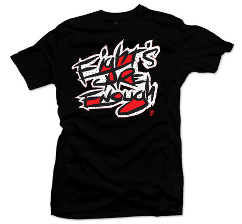Eights Are Enough Black/Red Tee