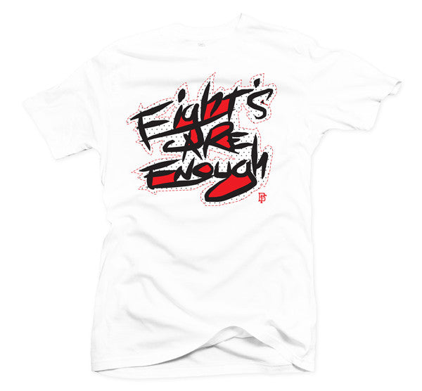 Eights Are Enough White/Red Tee