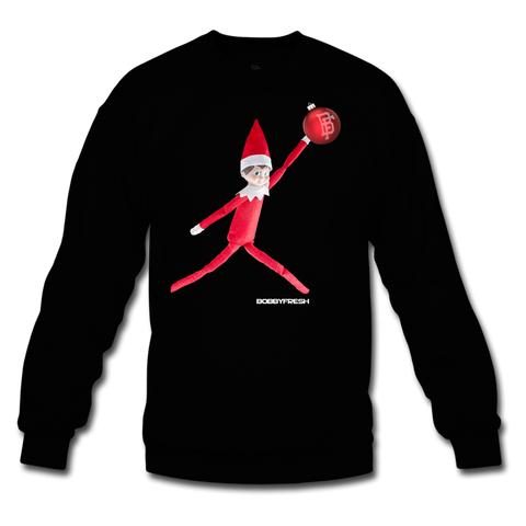 Elf Black/Red Crewneck