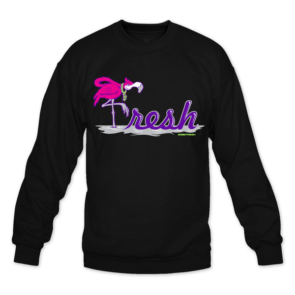 Flamingo Black/Bel Air Crewneck