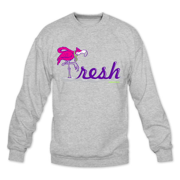 Flamingo Heather Grey/Bel Air Crewneck