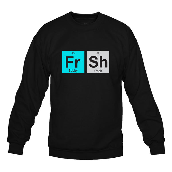 Fresh Elements Black Crewneck