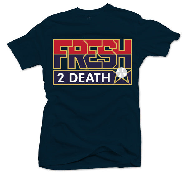 Fresh 2 Death Navy Tee