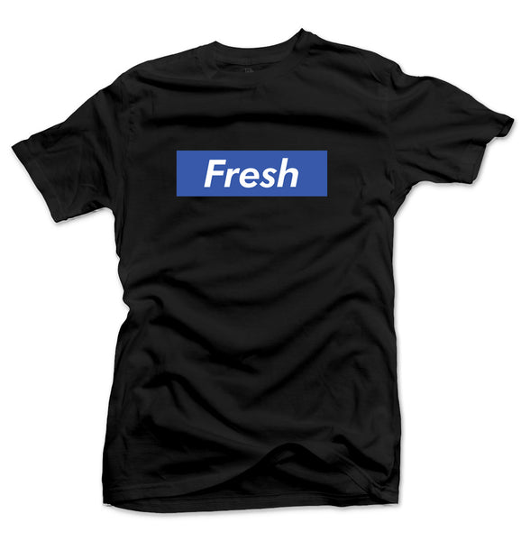 Fresh Box Black/Sport Blue Tee