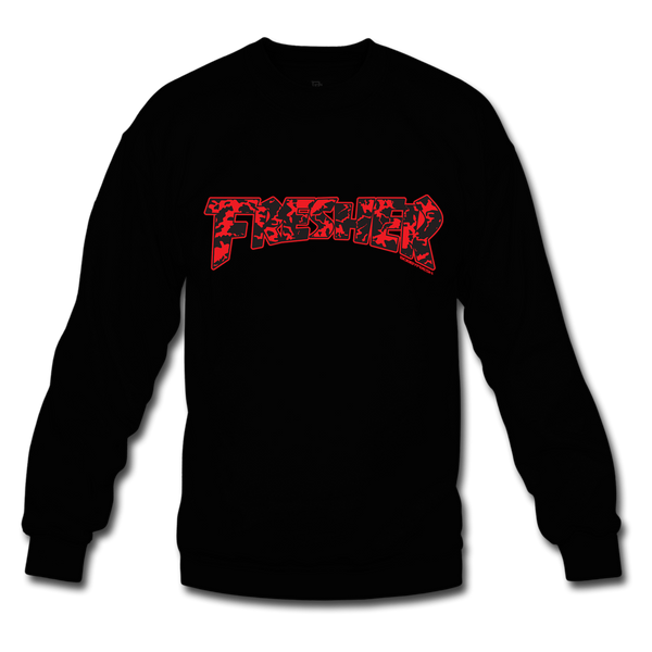 Fresher Black/Red Crewneck