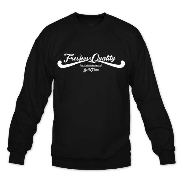 Freshess Quality Black Crewneck