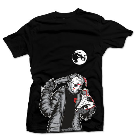 Friday the 13th 'He Got Game' Black Tee - Throwback