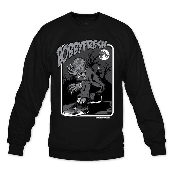Full Moon Black Crewneck