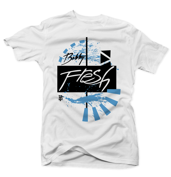 Gallery White/Powder Blue Tee