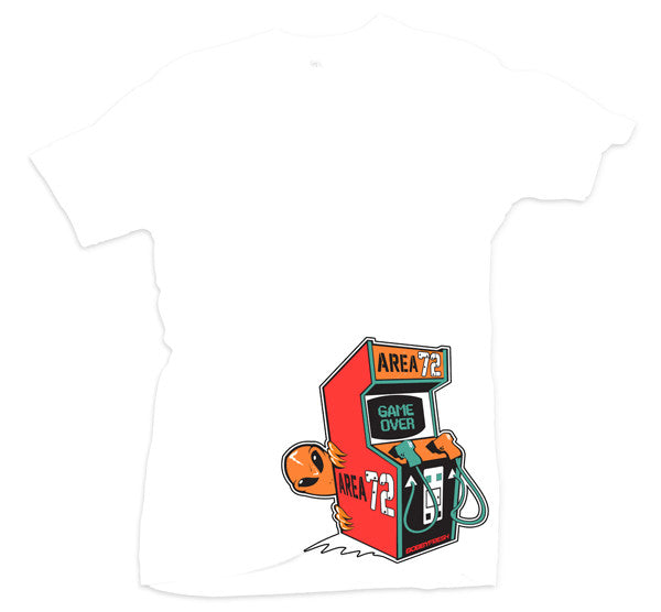 Game Over White/Orange Tee