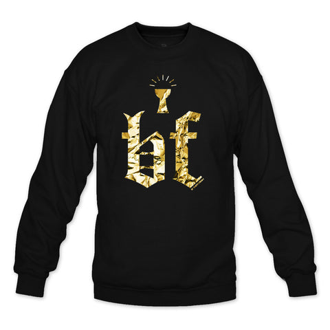 Grail Black/Gold Foil Crewneck