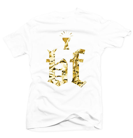 Grail White/Gold Foil Tee