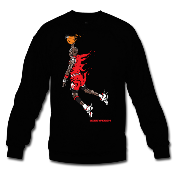 Hangtime Black/Red Crewneck