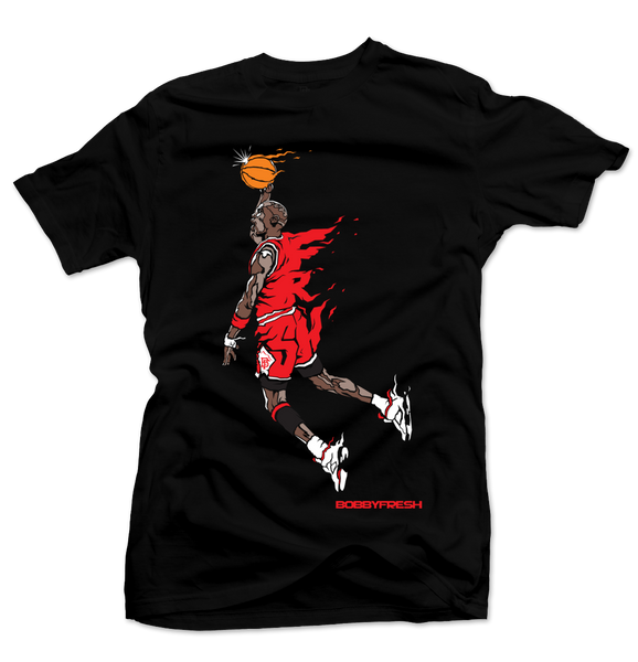 Hangtime Black/Red Tee