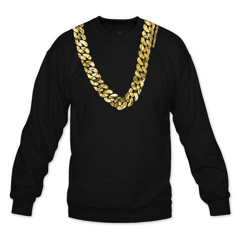 Heavy Black/Gold Foil Crewneck
