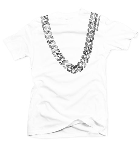 Heavy White/Silver Foil Tee