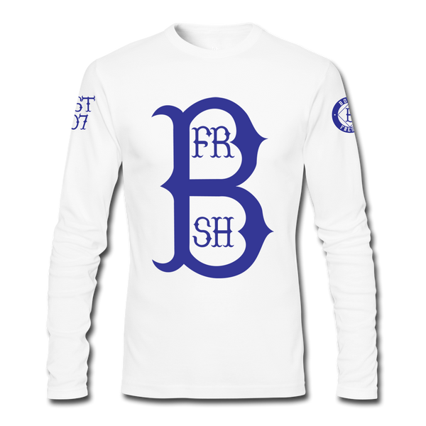 Home Run White/Royal Blue Longsleeve Tee