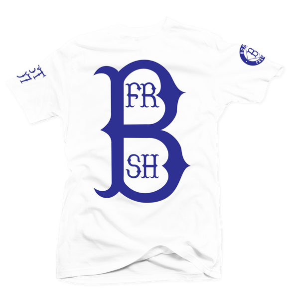 Home Run White/Royal Blue Tee