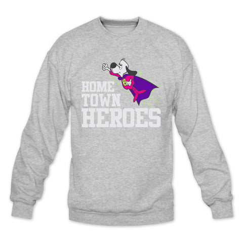 Hometown Heroes Heather Grey/Bel Air Crewneck