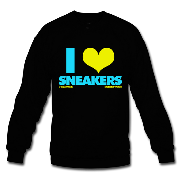 Bobby Fresh x SneakerTube I Love Sneakers Black/Blue Crewneck