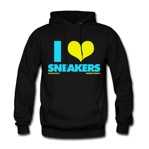 Bobby Fresh x SneakerTube I Love Sneakers Black/Blue Hoodie
