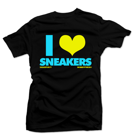 Bobby Fresh x SneakerTube I Love Sneakers Black/Blue Tee