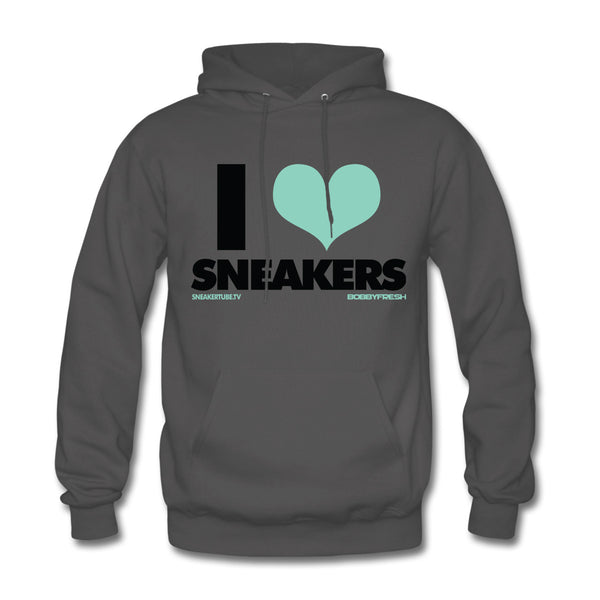 Bobby Fresh x SneakerTube I Love Sneakers Charcoal/Green Hoodie