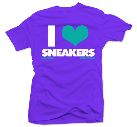 Bobby Fresh x SneakerTube I Love Sneakers Purple/Teal Tee