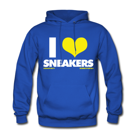 Bobby Fresh x SneakerTube I Love Sneakers Royal Blue/Yellow Hoodie