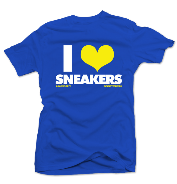 Bobby Fresh x SneakerTube I Love Sneakers Royal Blue/Yellow Tee