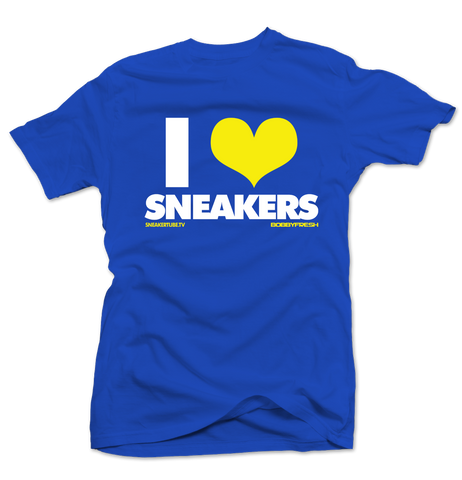 Bobby Fresh x SneakerTube I Love Sneakers Royal Blue/Yellow Tee - Preorder