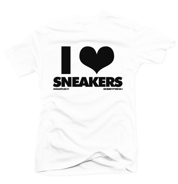 Bobby Fresh x SneakerTube I Love Sneakers White/Black Tee - Bobby Fresh