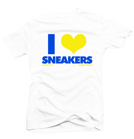 Bobby Fresh x SneakerTube I Love Sneakers White/Yellow Tee