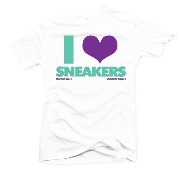 Bobby Fresh x SneakerTube I Love Sneakers White/Teal Tee