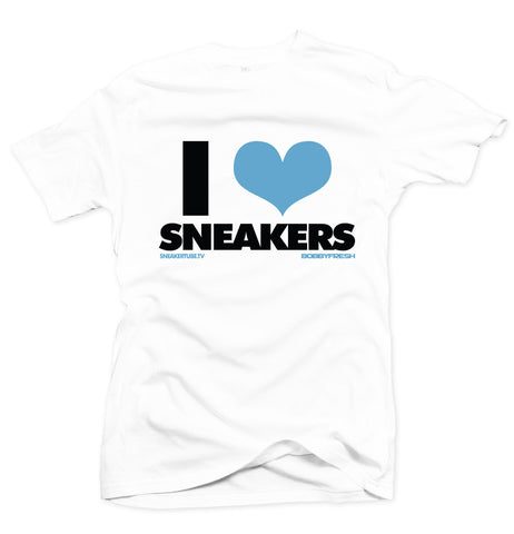 Bobby Fresh x Sneaker Tube Tv I Love Sneakers White/Powder Blue Tee