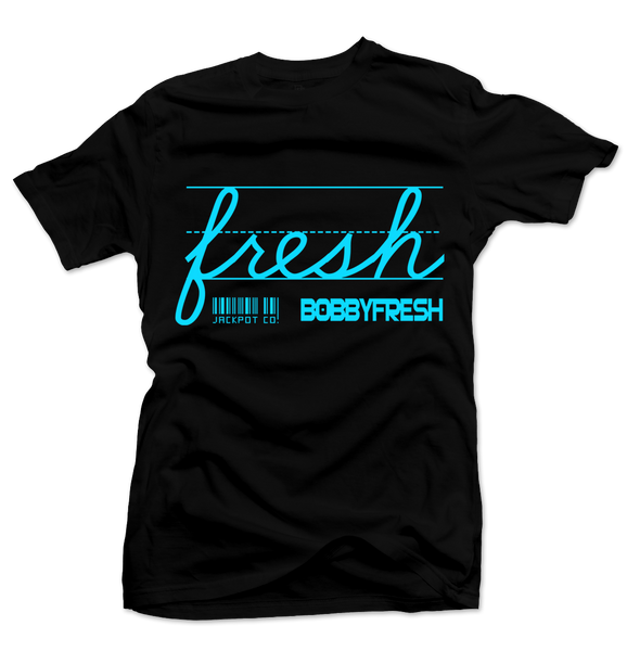 Bobby Fresh x Jackpot Co. Fresh Black/Blue Tee