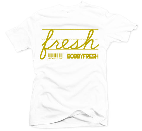 Bobby Fresh x Jackpot Co. - Fresh White/Gold Tee