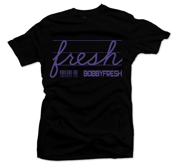 "Bobby Fresh x Jackpot Co. ""Fresh"" Black/Purple Tee"