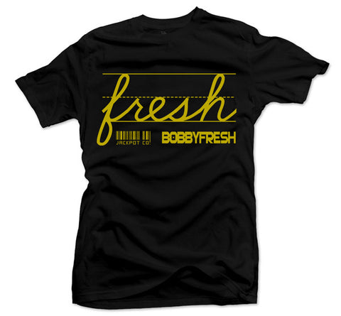 Bobby Fresh x Jackpot Co. - Fresh Black/Gold Tee