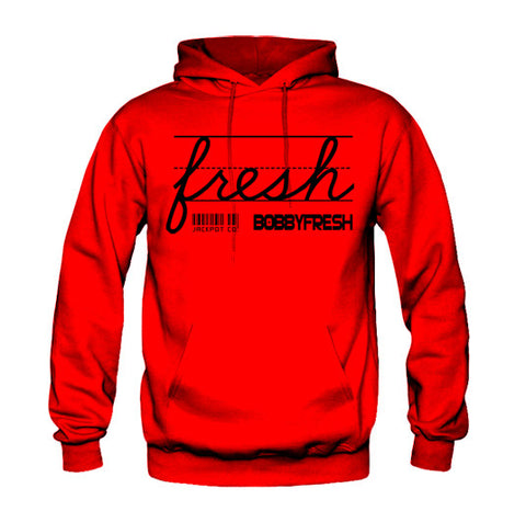 "Bobby Fresh x Jackpot Co. ""Fresh"" Red/Black Bred Hoodie"