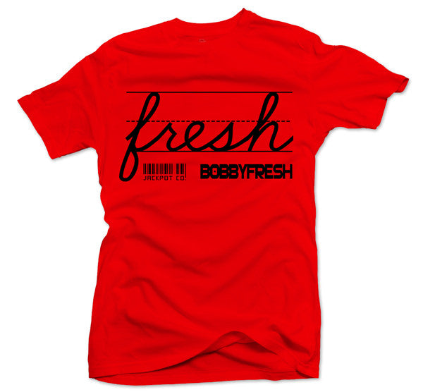 "Bobby Fresh x Jackpot Co. ""Fresh"" Red/Black Tee - Bobby Fresh"