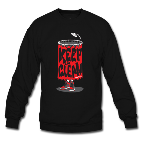 Keep 'Em Clean Black/Grey Crewneck