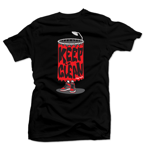 Keep 'Em Clean Black/Grey Tee