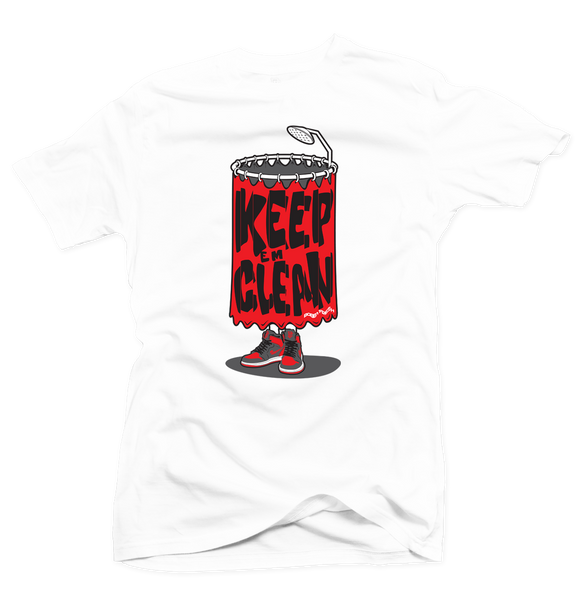 Keep 'Em Clean White/Grey Tee