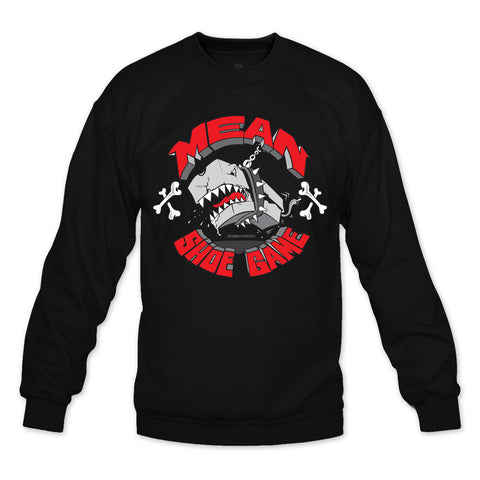 Mean Shoe Game Black/Red Crewneck