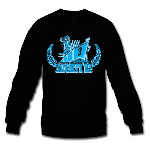 Mighty BF Black/Powder Blue Crewneck